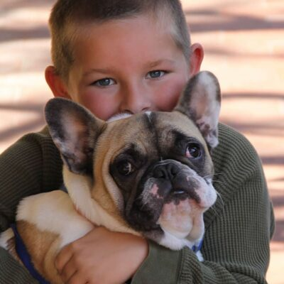 pet friendly boy and dog